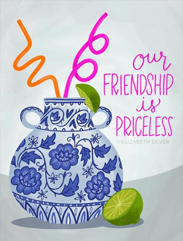 Priceless Vase Greeting Card ©Elizabeth Silver