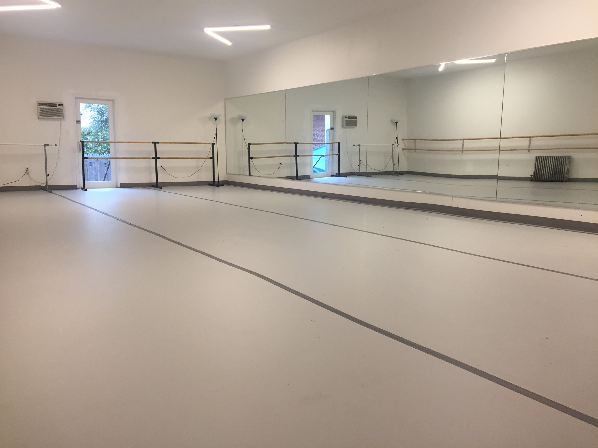 Cora's 800 square foot rehearsal space is available for rental for rehearsal, performances, classes and events. Email info@coradance.org or call 718-858-2520 for details.