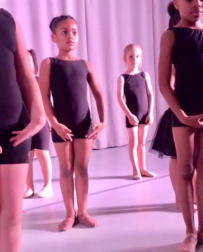 Ballet 1 students prepare for their Student Recital. All students in Level 1 and higher are invited to participate in this beloved annual event.