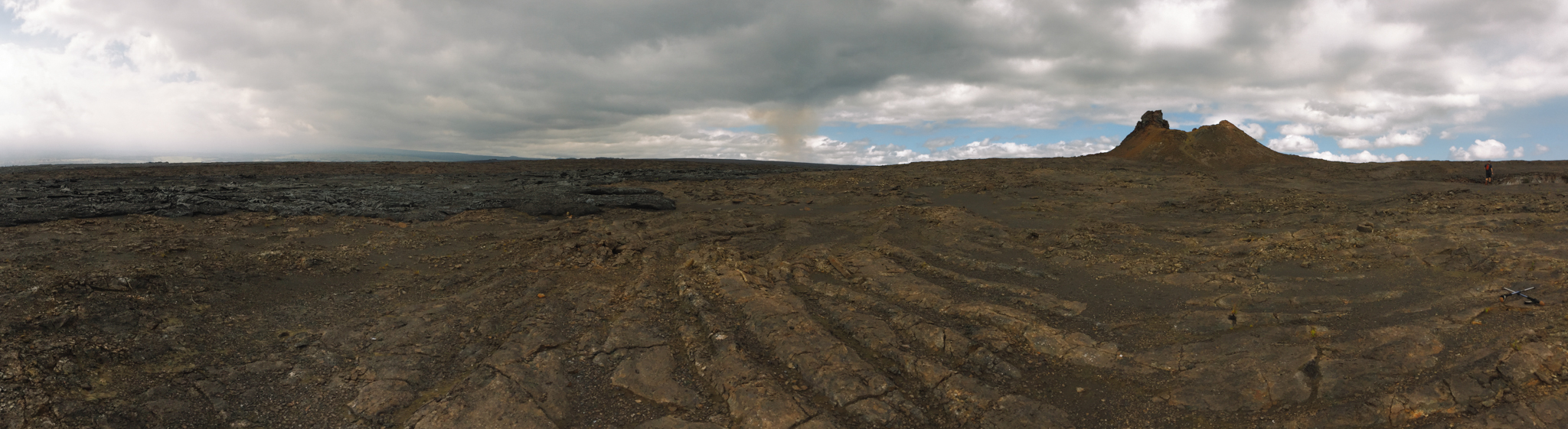 Hiking to the craters with Ranger Dean.