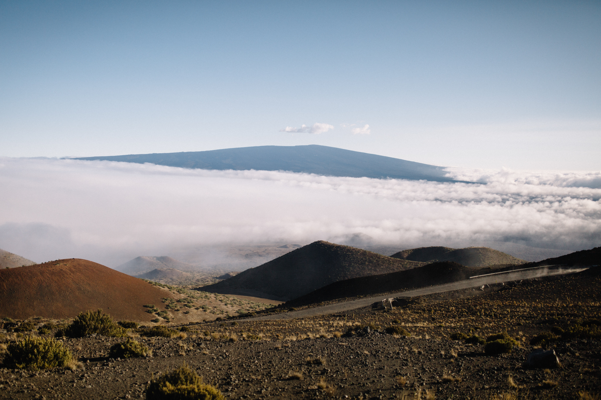 Almost to the top! Wave 'hi' to Mauna Loa in the distance.