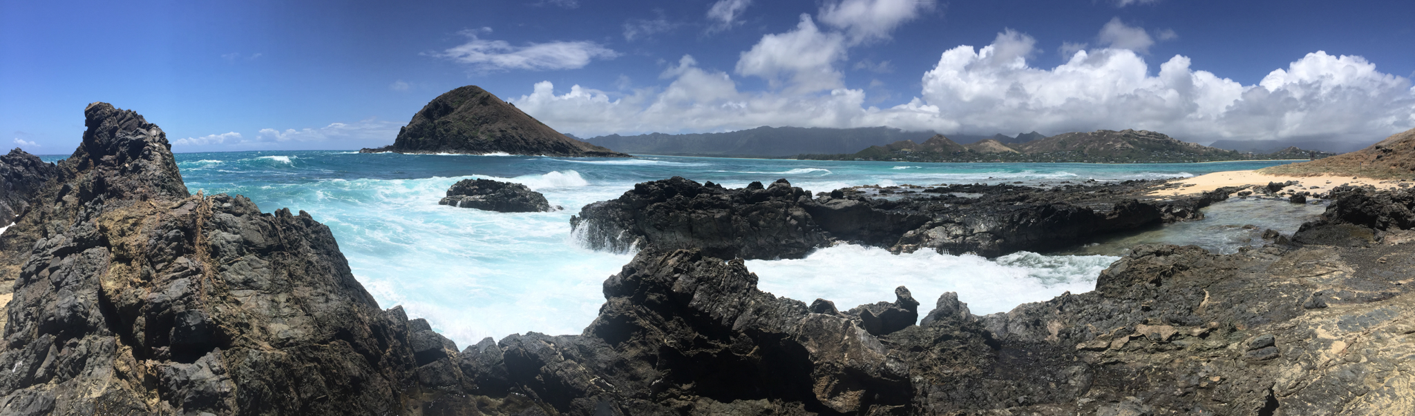 Moku Nui is a nature preserve, so the tiny island is home only to 'Iwa and Sooty Terns--no humans.