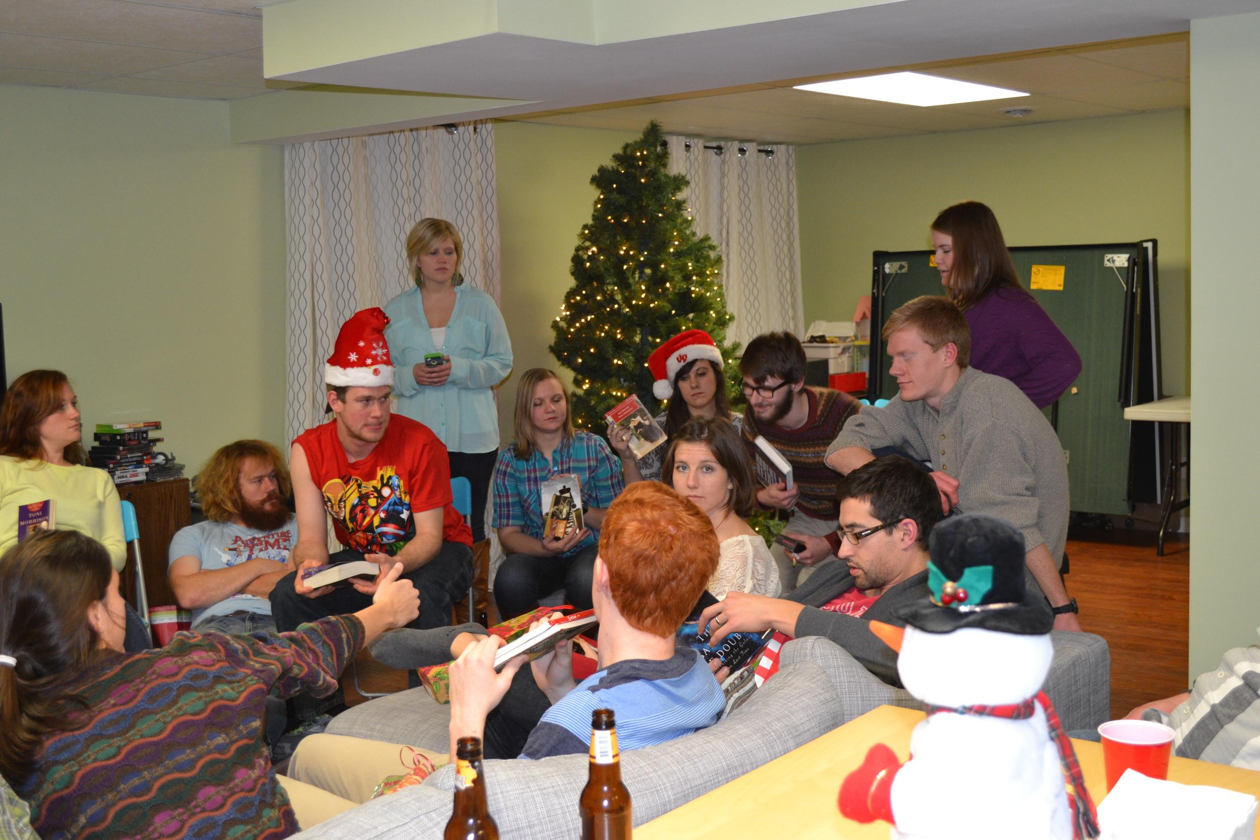 Older kids at adult Christmas
