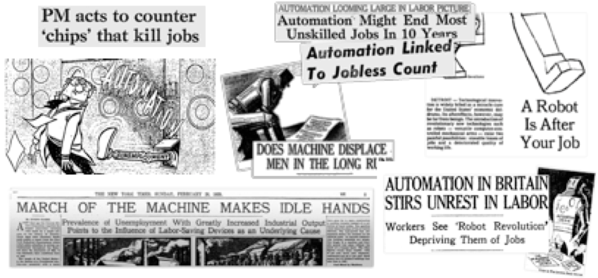 This period of technological evolution is nothing new. 'The Machines Are Taking Over' style headlines have been around for decades.
