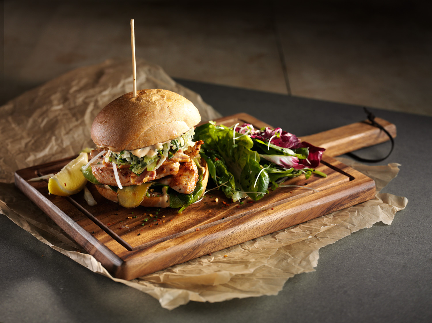 Flourish Bakery Chicken BLT Food and Drink Photography - Lux Studio