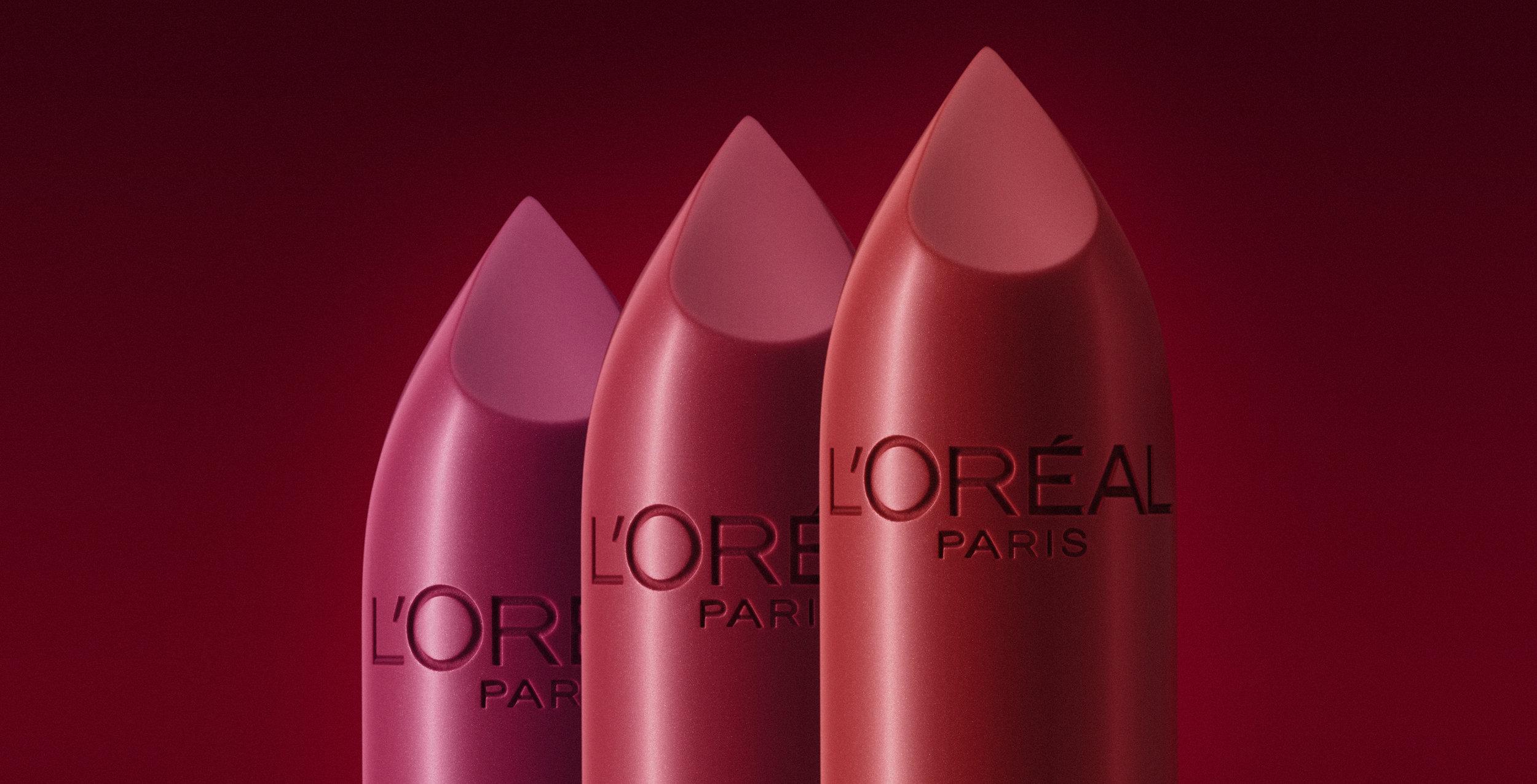 L'Oréal Paris Lipstick Cosmetic Photography - Lux Studio