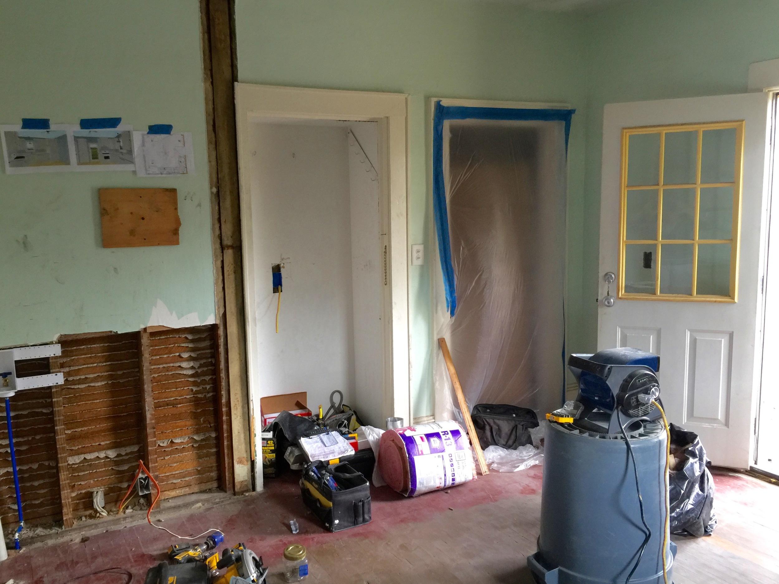 After the demolition