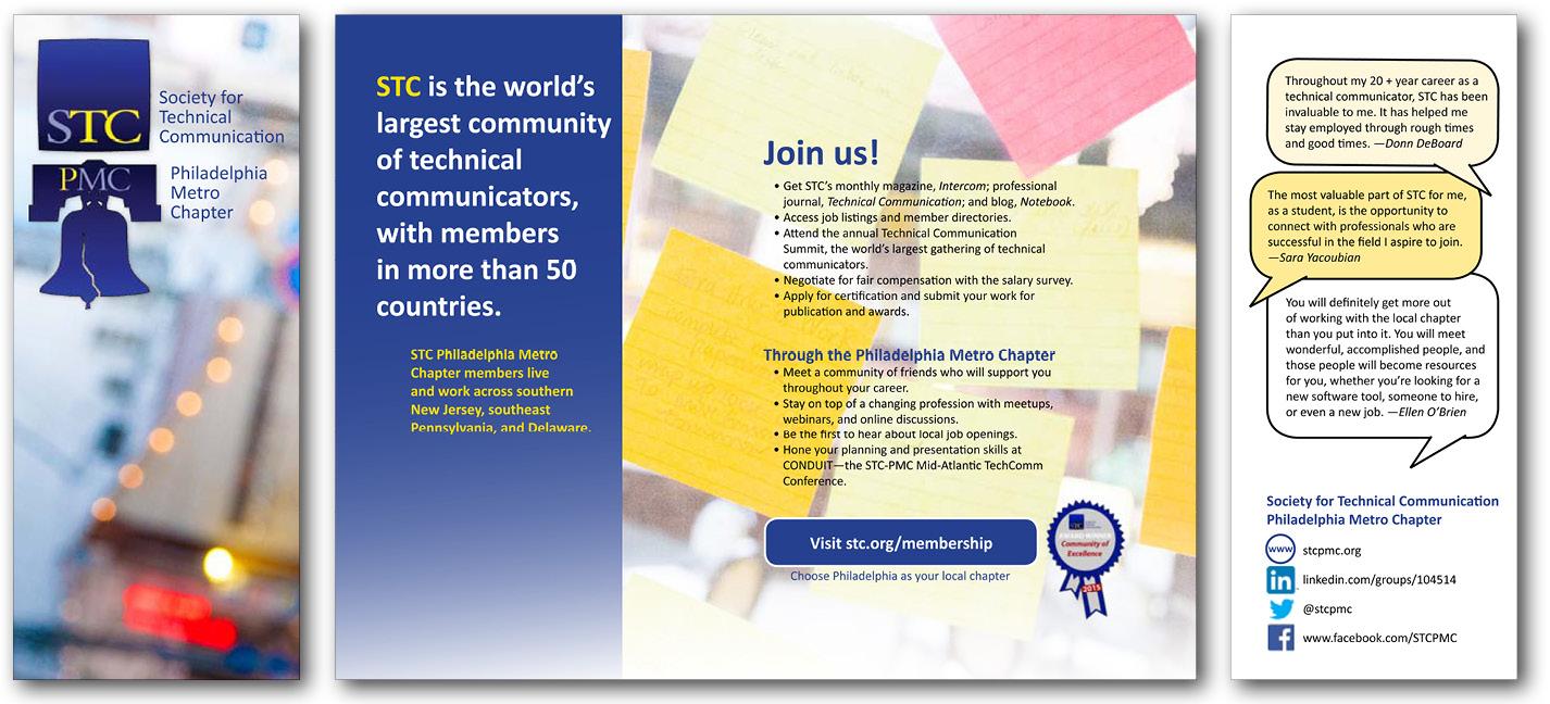 STC Philadelphia Metro Chapter brochure—redesigned