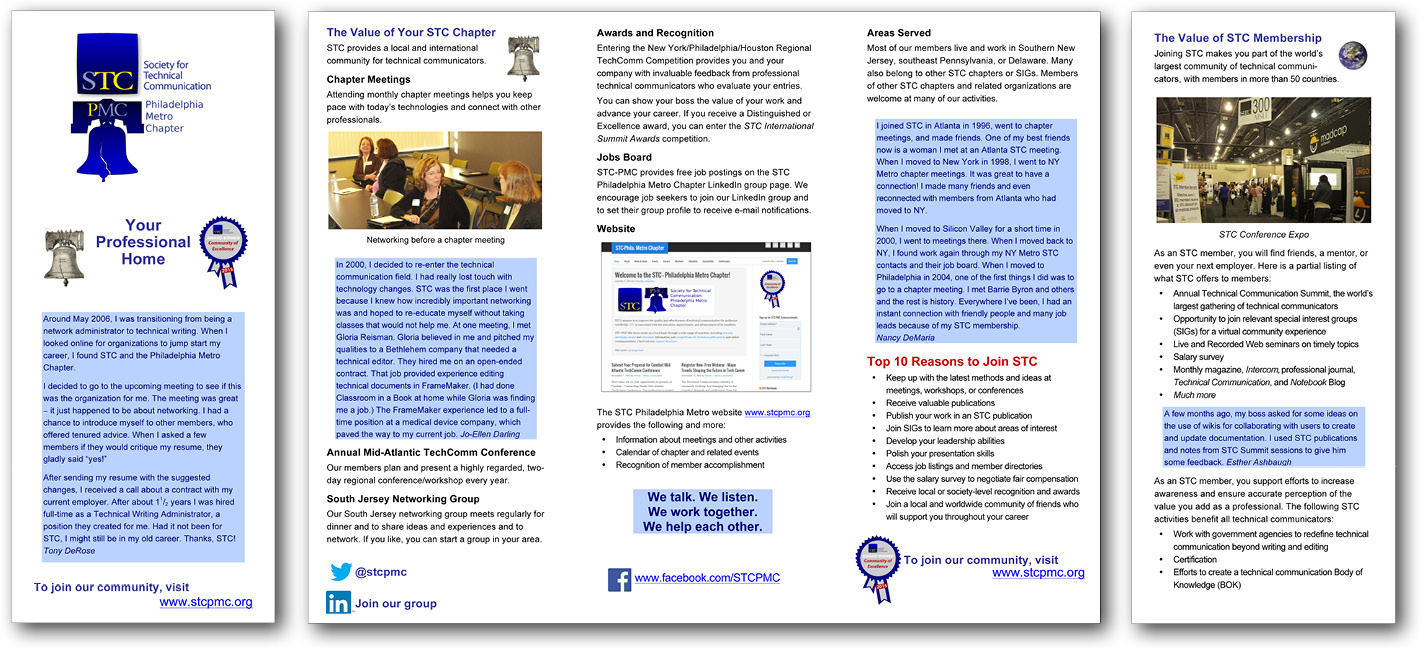 STC Philadelphia Metro Chapter brochure—original