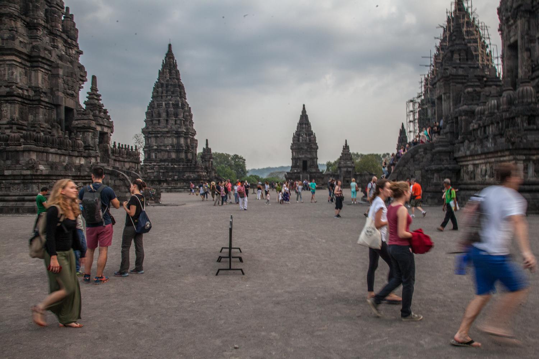 Major Hindu Temple east of Yogyakarta; built roughly same time as Buddhist Borobadur Temple (856 AD)