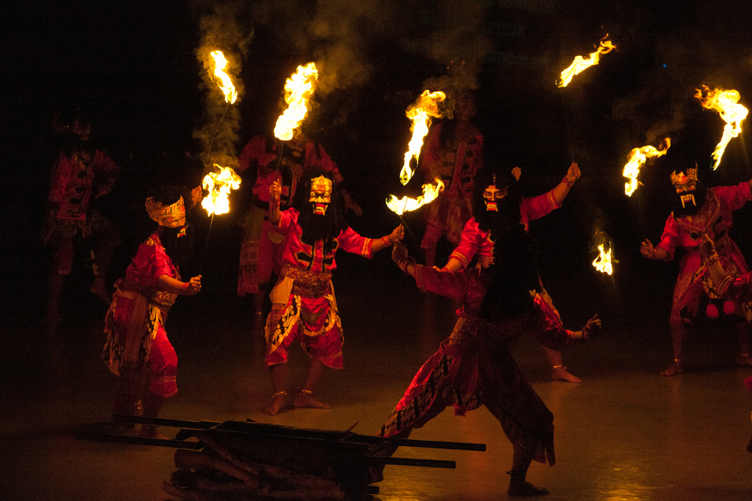 Ramayana Ballet perforemed nightly for tourists beside Prambanan Temple