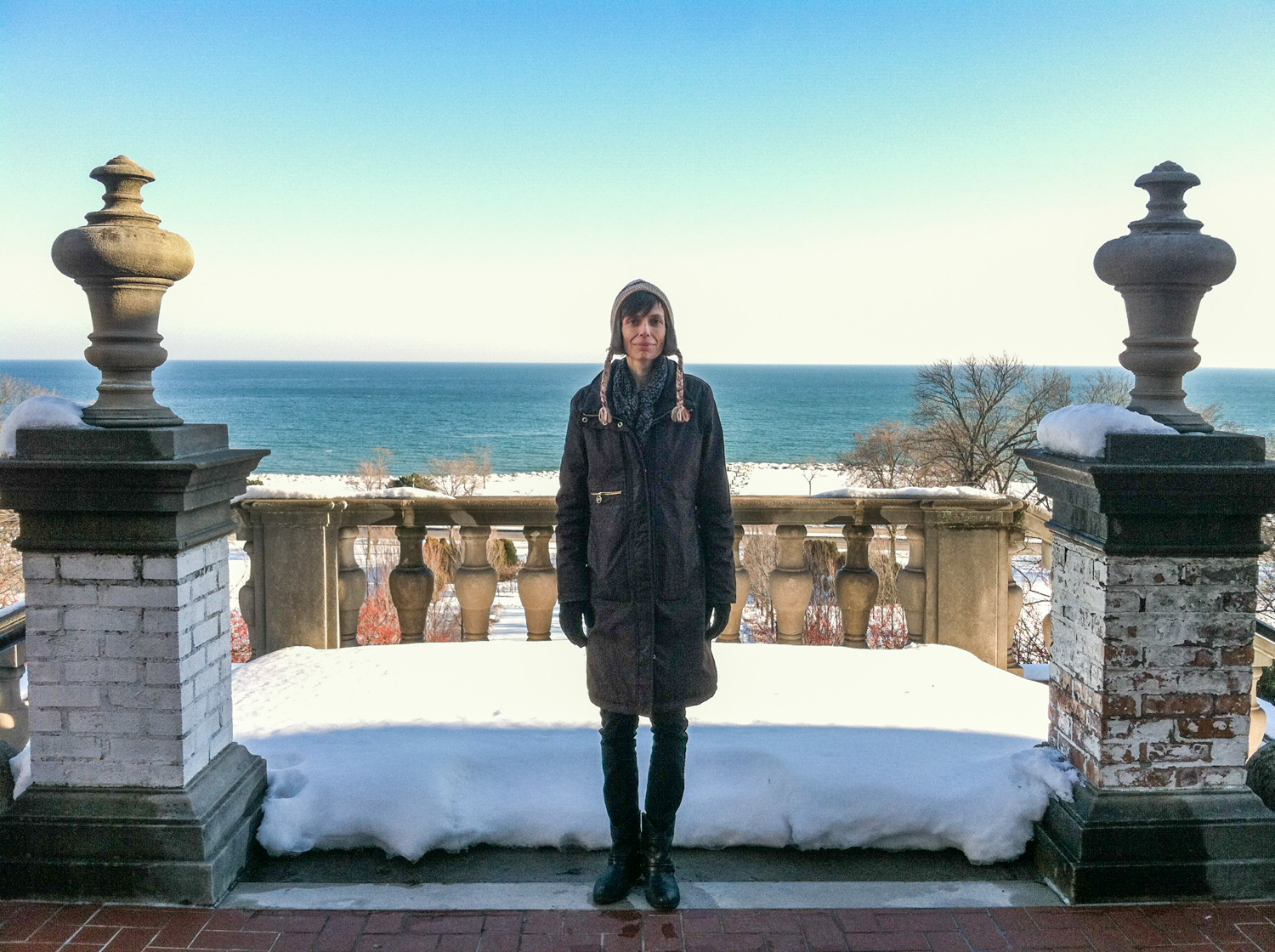 Catherine Friesen, Milwaukee, December 2013. This is the last photo I took of her, on the site of her last role, Hamlet.