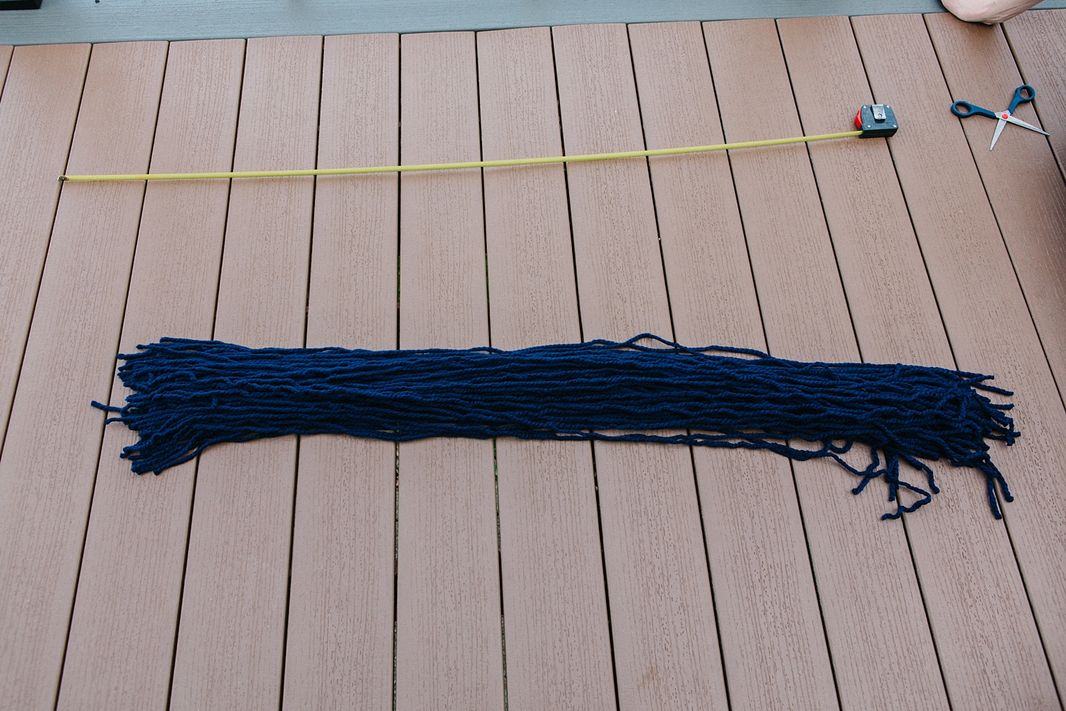 Tip:    Cut a full skein  of your base yarn.