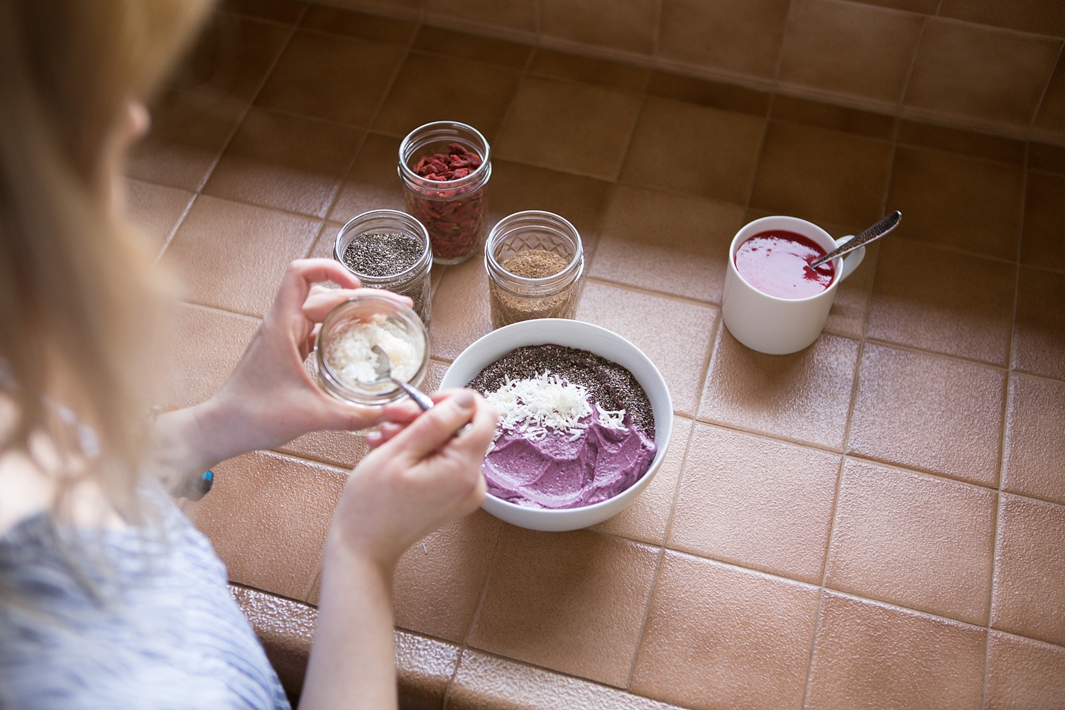 All are healthy ingredients so you can load up your bowl and not feel a single bit of guilt!