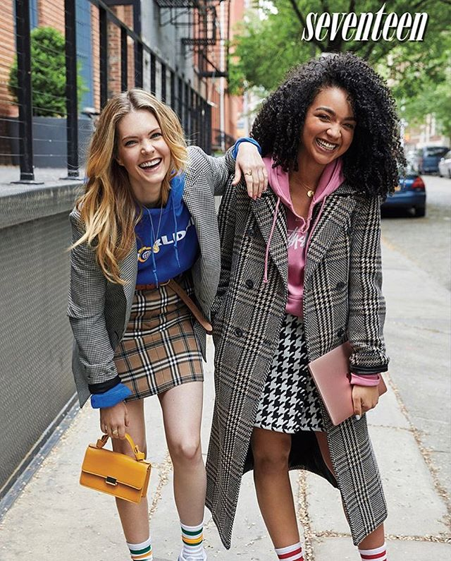 💙💛 Get glimpse of the Worldnet hoodie in the Aug/Sept issue of @seventeen with @meghannfahy and @aishtray from @theboldtypetv