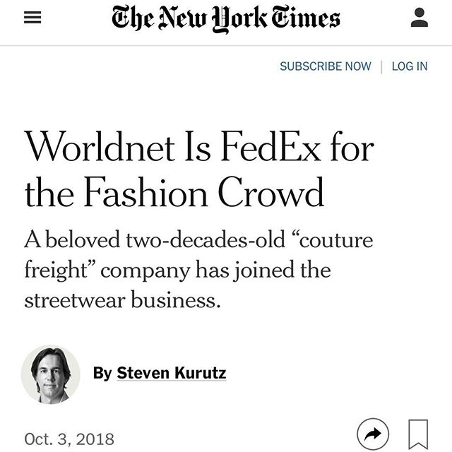💙💛Thank you @nytimes for sharing our story! It's not everyday a shipping company makes it in the newspaper for delivering amazing customer service and chic merchandise! Our amazing clients and talented staff continue to motivate us to deliver our best work! Thank you all #WeGiveAShip✨✨ #stevenkurutz📸: @jeenahmoon