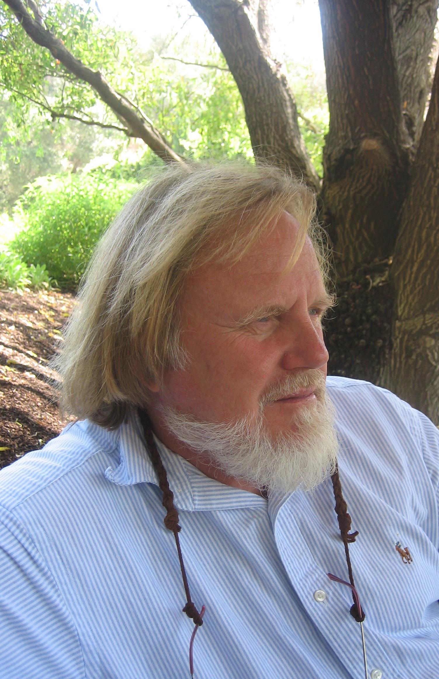The artist on retreat in Napa Valley, California