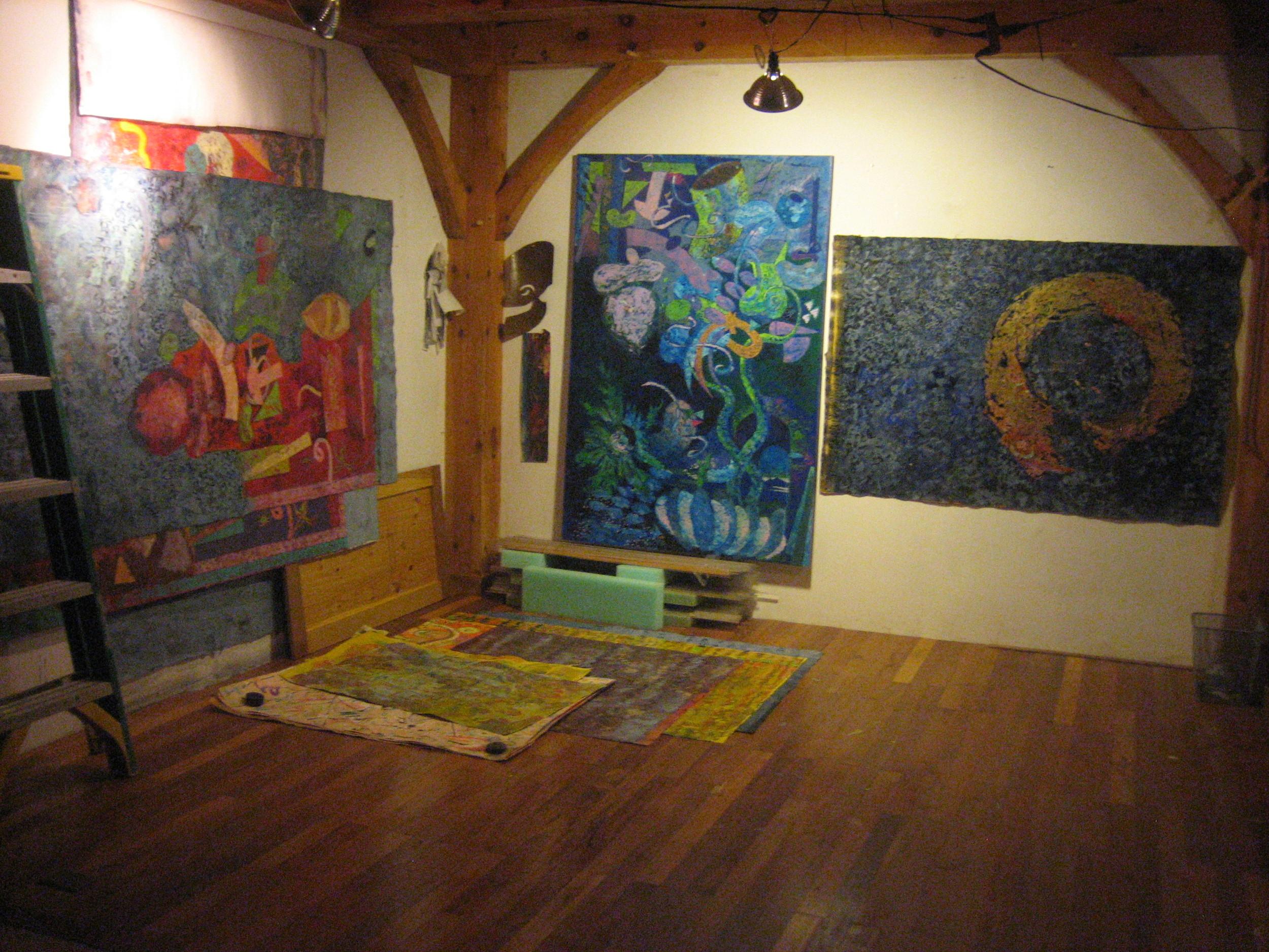 Inside the artist's studio on Cape Cod