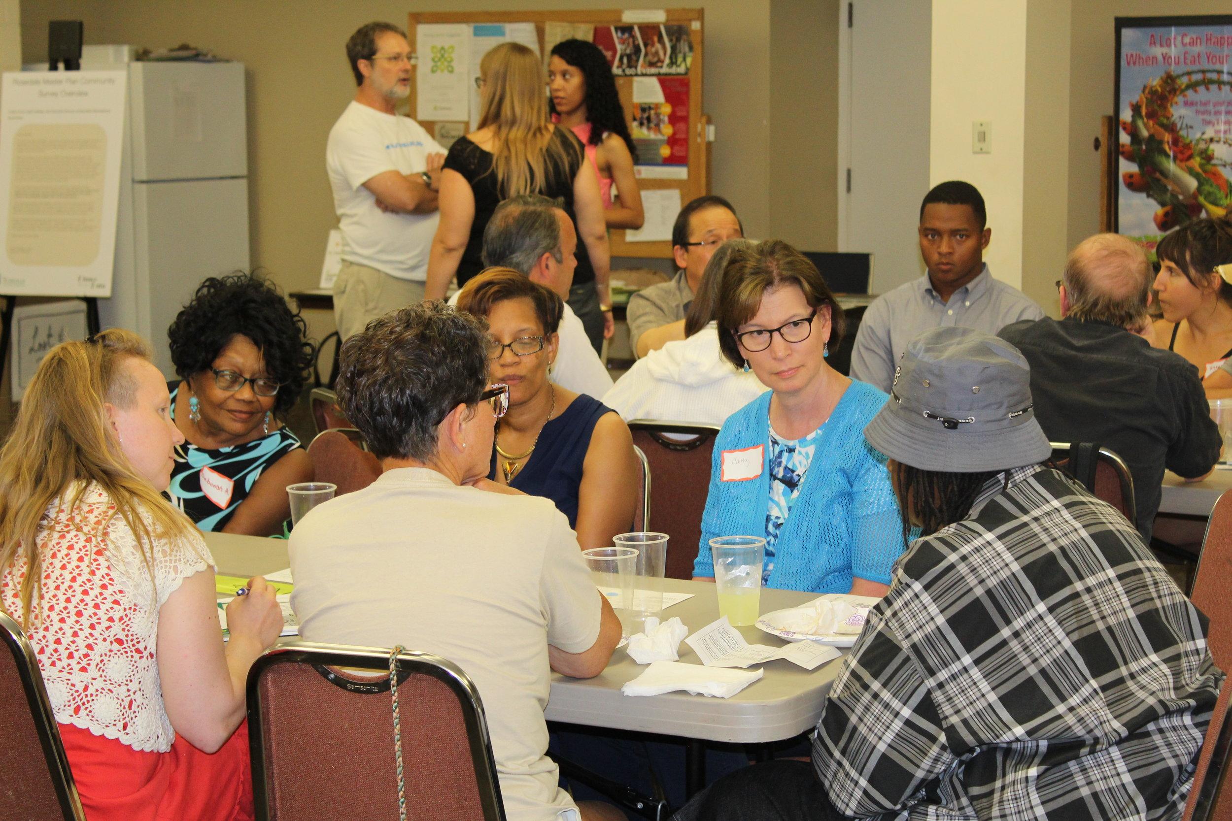 Community meeting in Rosedale