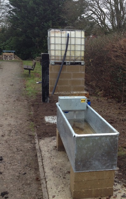 New water supply - just needs a hose connector and some disguising!
