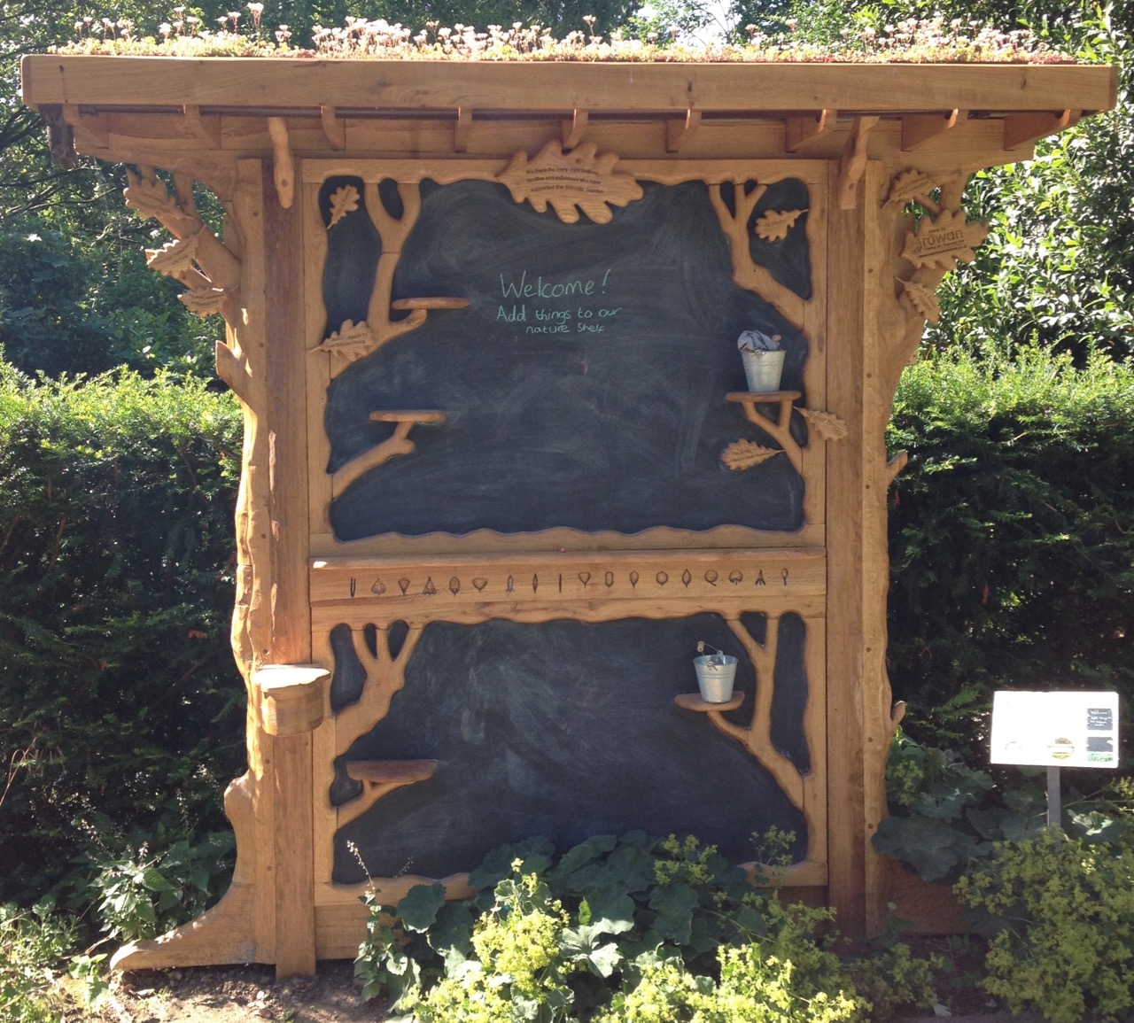 Back of the Schools Garden sign - made by Rowan Cambridge