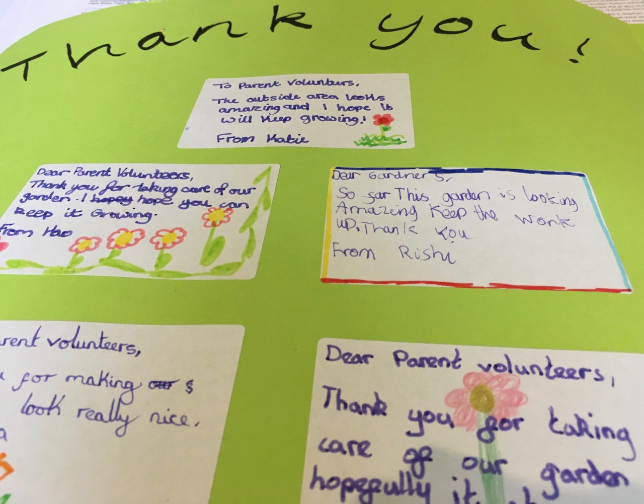 2018: Just a few of the thank you notes from school students.