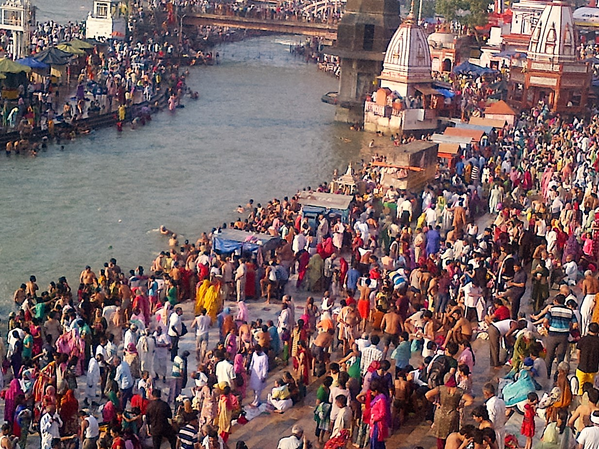 """Haridwar, India- is one of the seven most holy cities to those of Hindu religion. The name Hardiwar means """"Gateway of the Gods."""" Every evening, the Ganges (the holiest of all India's rivers) comes alive with the """"aarti"""" (the worship of fire) colorful, emotional, and very crowded. A place not to miss if you have interest in exploring India and the Hindu religion."""