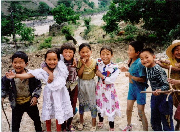 A warm welcome near Tibet boarder in China