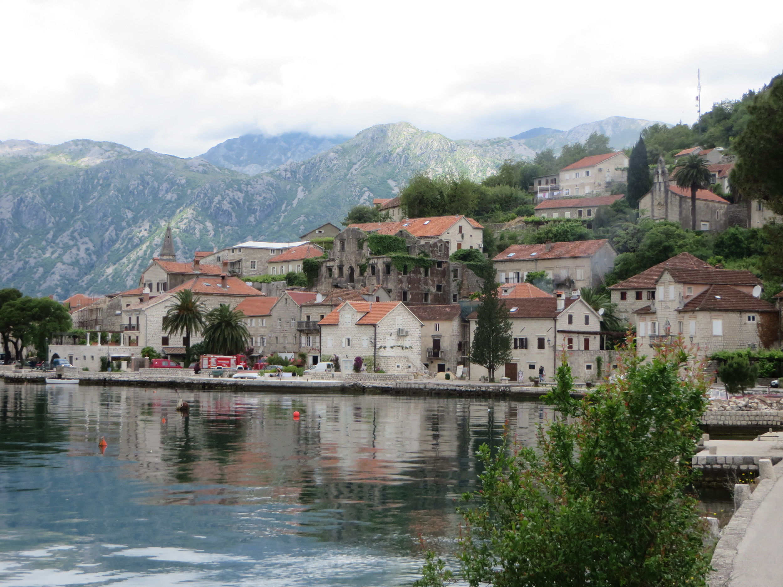 Perast, Montenegro - on the beautiful Bay of Kotor, the second largest fjord in Europe.