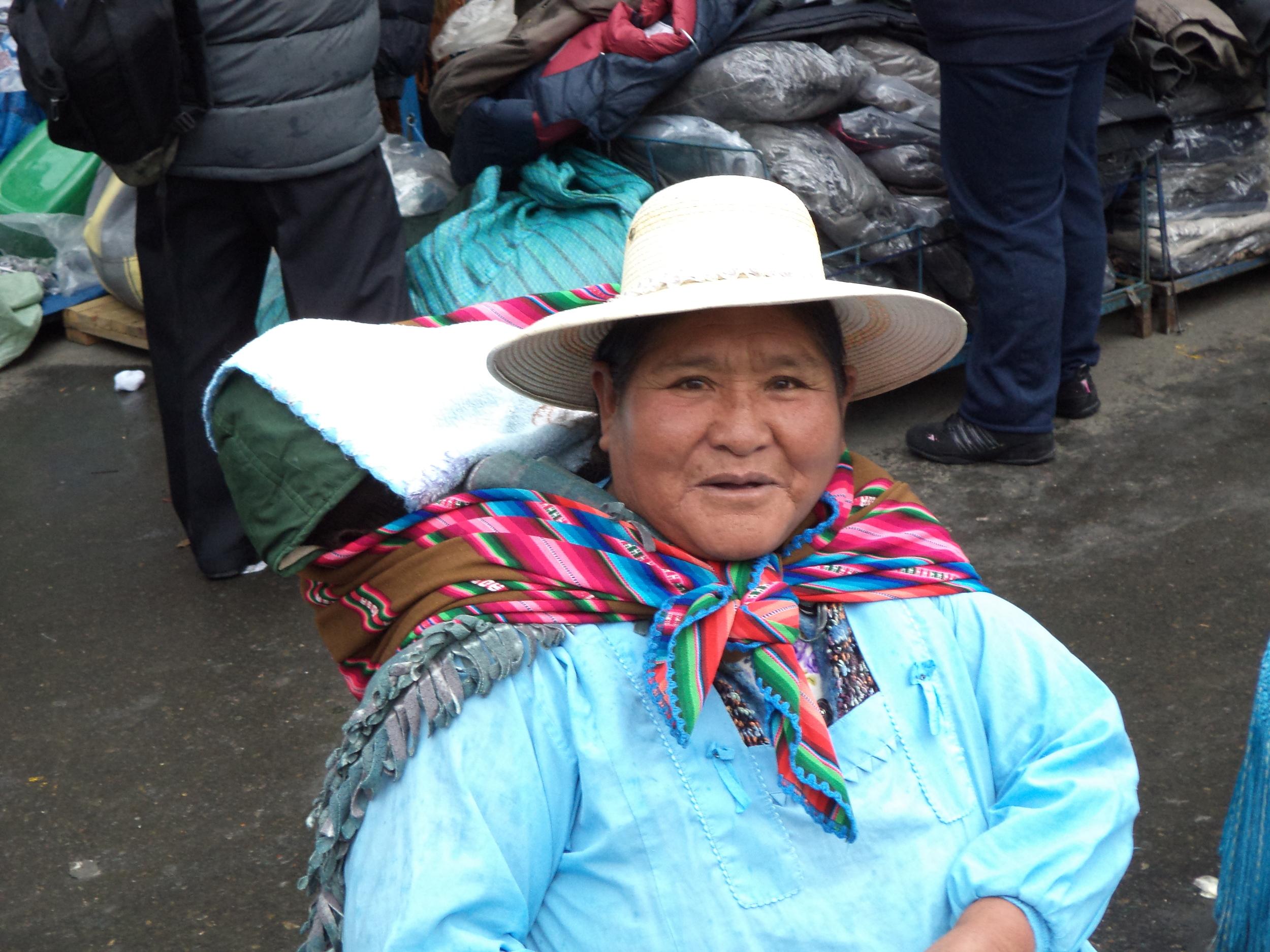 Bolivian woman at market