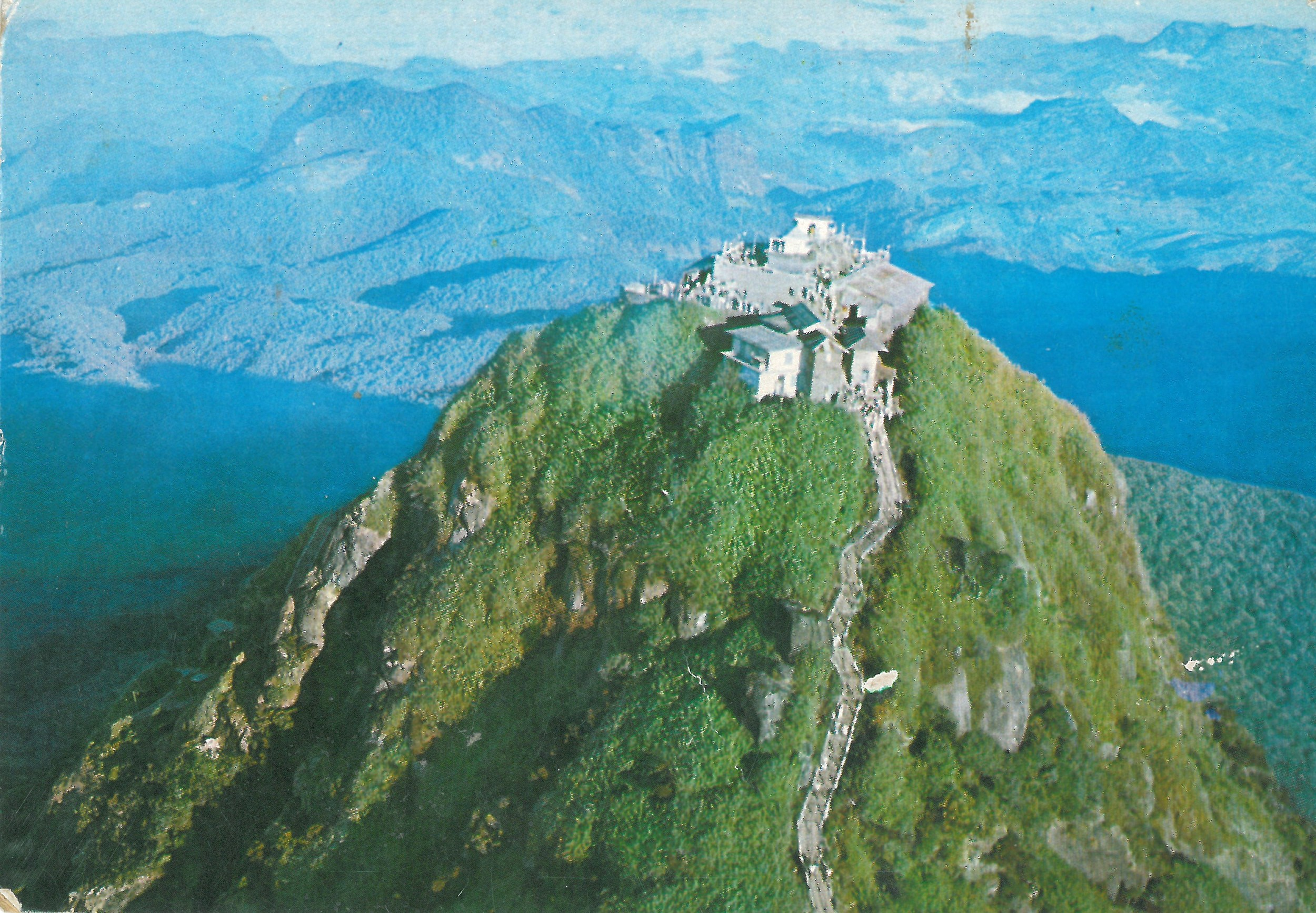 Adams Peak in Sri Lanka - a religious pilgrimage site containing Buddha's footprint, also the country's highest mountain