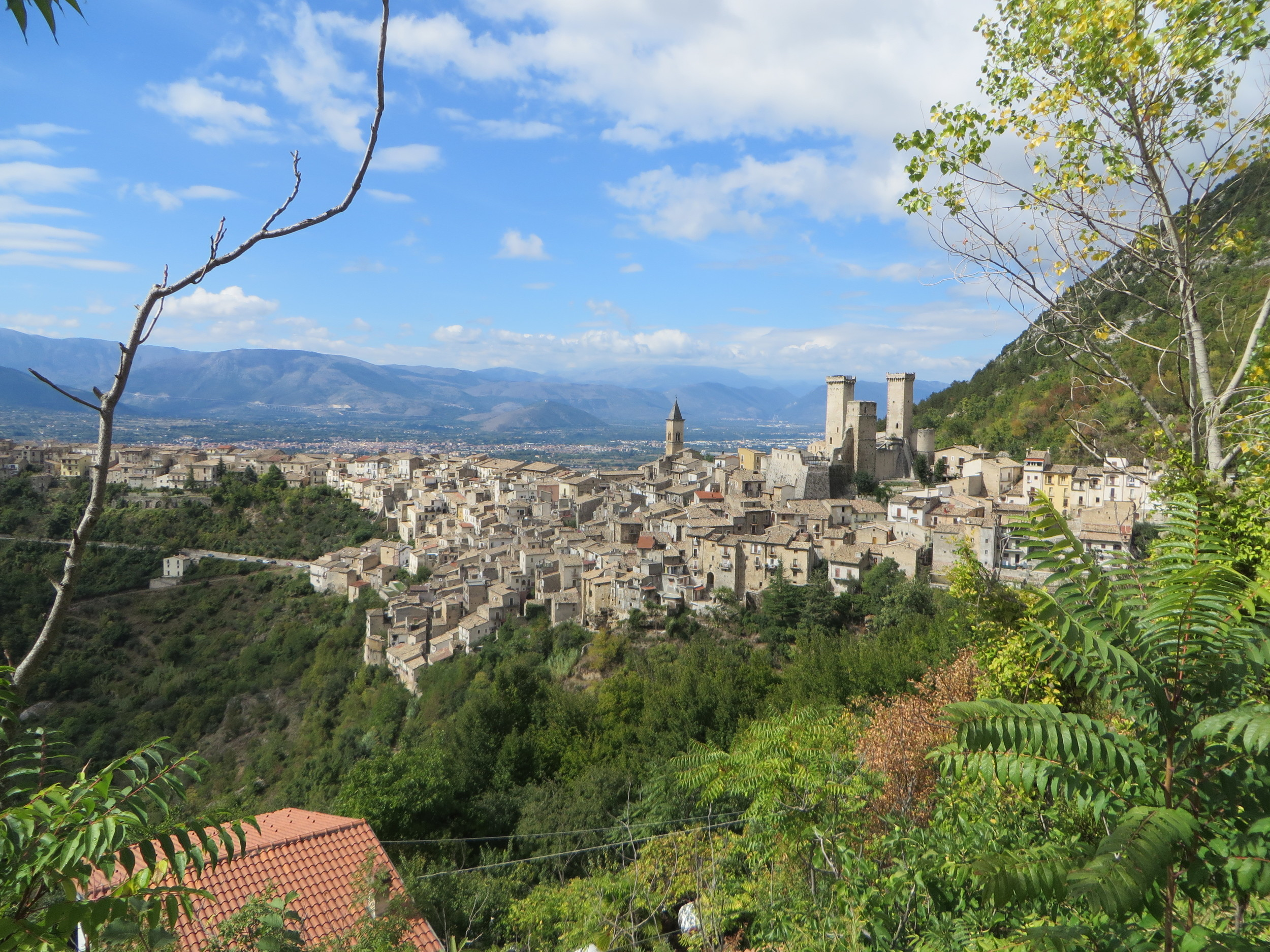 Pacentro, a medieval village in Abruzzo region of Italy