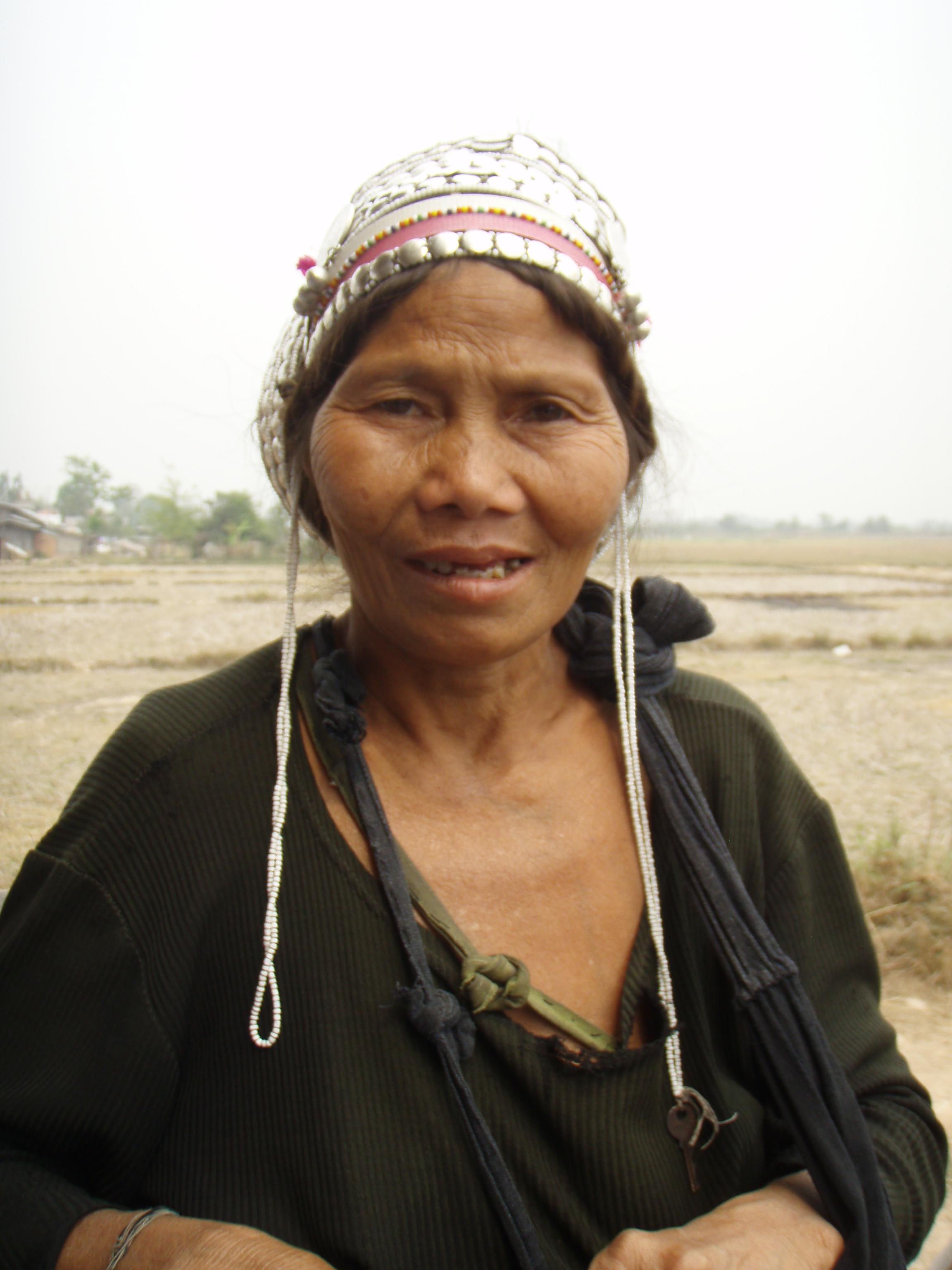 An indigenous Akha hill-tribe woman in village of Lunag Namtha in northwest Laos