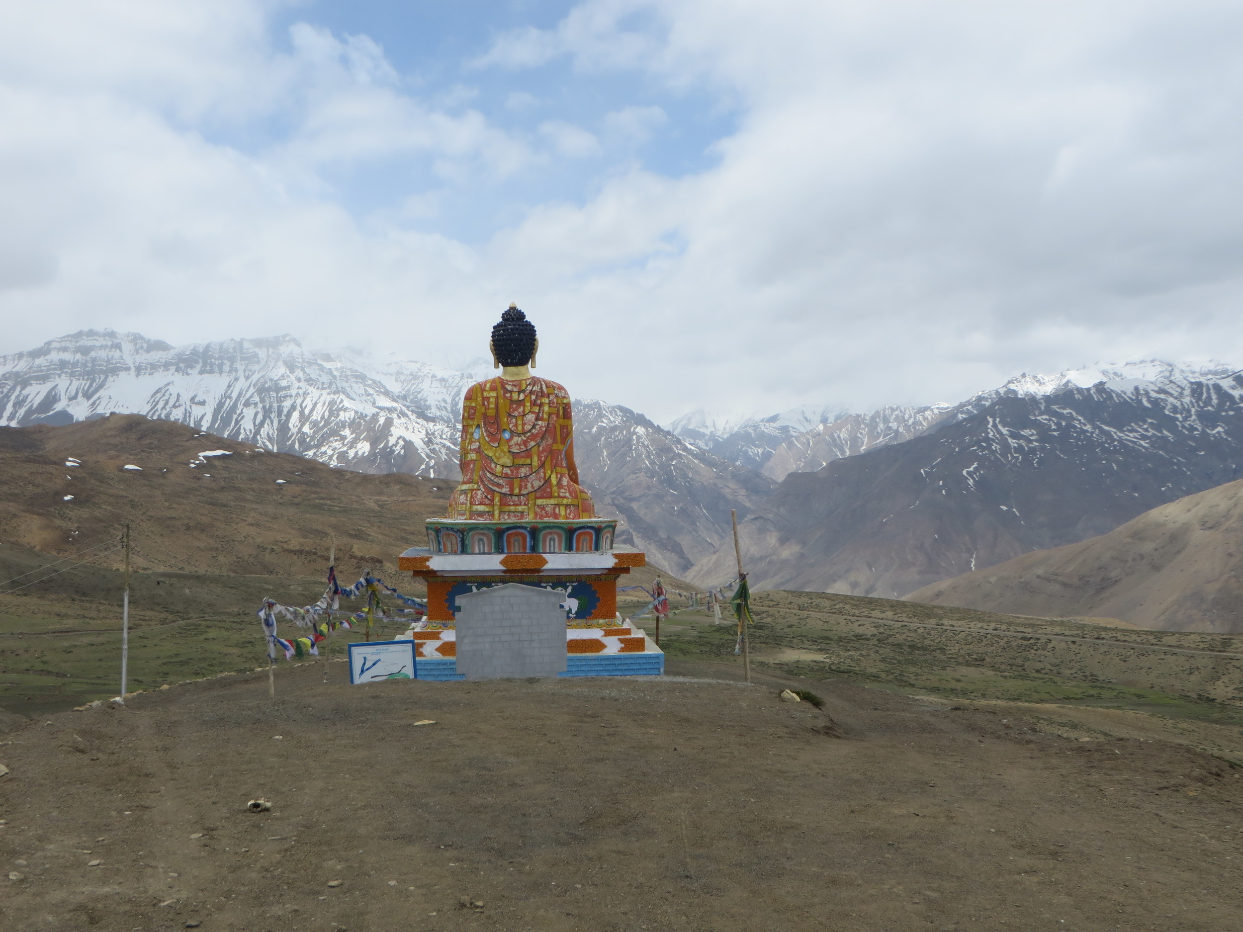 25) Buddha looking out across Spiti Valley (hamlet of Lasa) - Himachal Pradesh, India