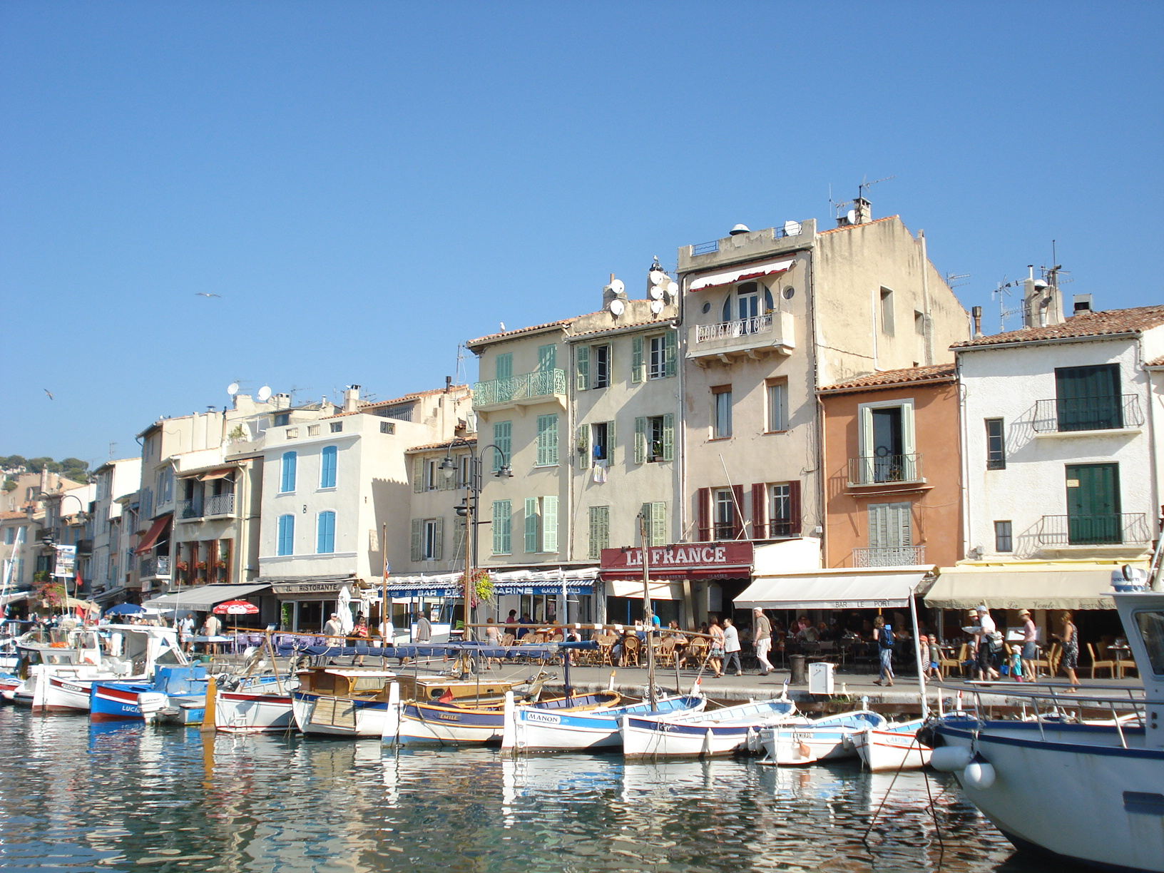 Harbor side in Cassis - a lovely low-key village on the French Riviera (very close to Marseille)