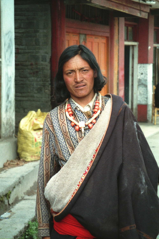 Tibetan man in Yunnan Province, China.