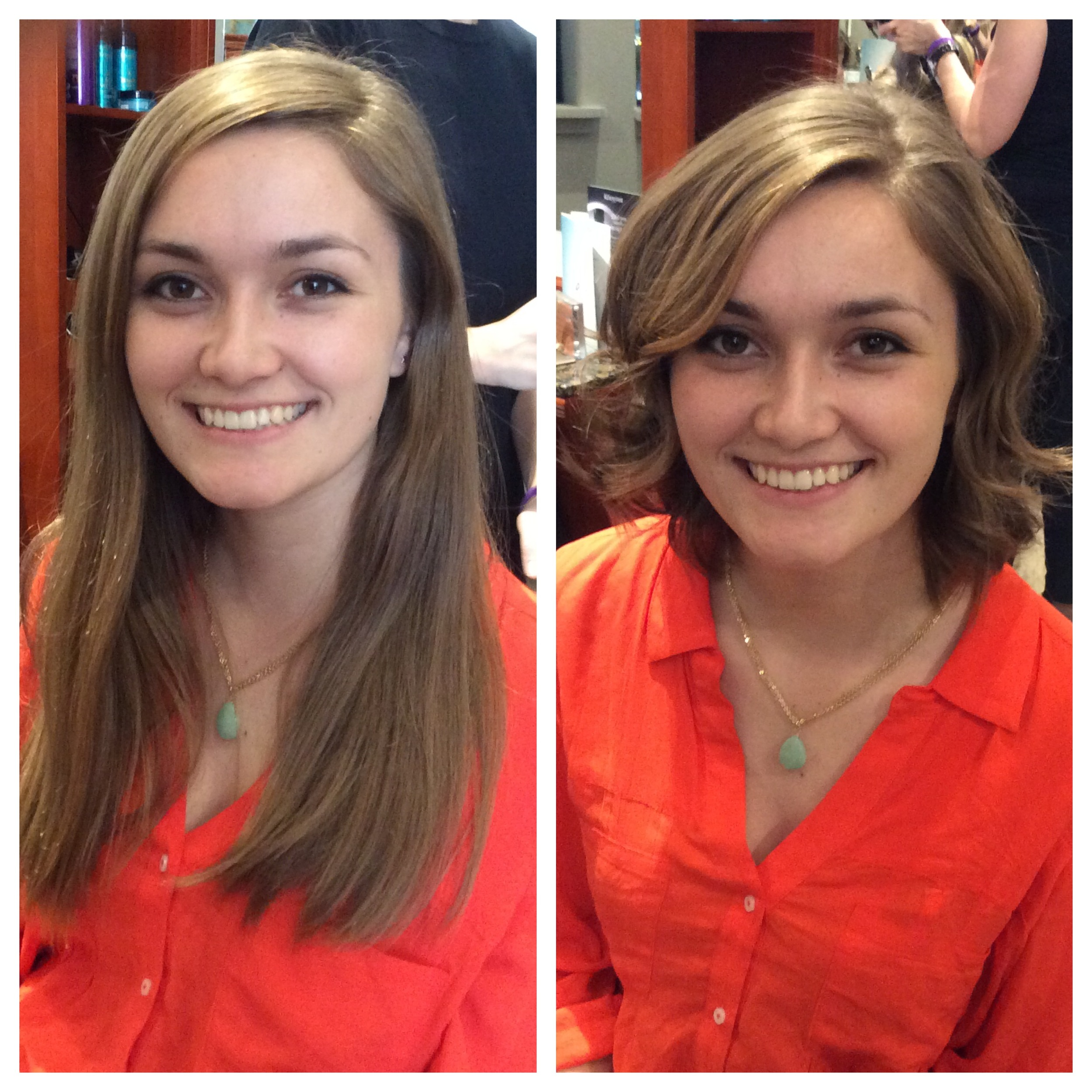 Rebecca Beardsley Hair Cut Before and After