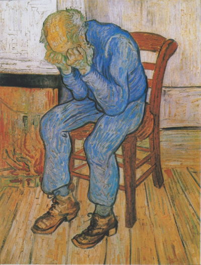 Vincent Van Gogh - Sorrowing Old Man (At Eternity's Gate) 1890