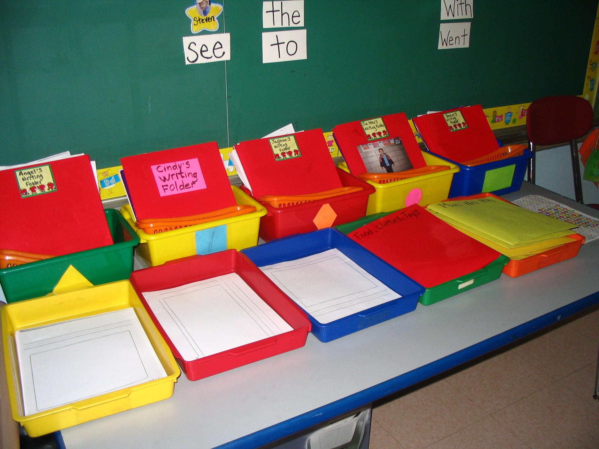 Writing folders (K-2)