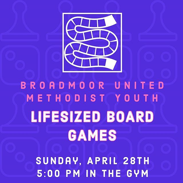 Please join us Sunday night for an outrageous night of life-sized board games!