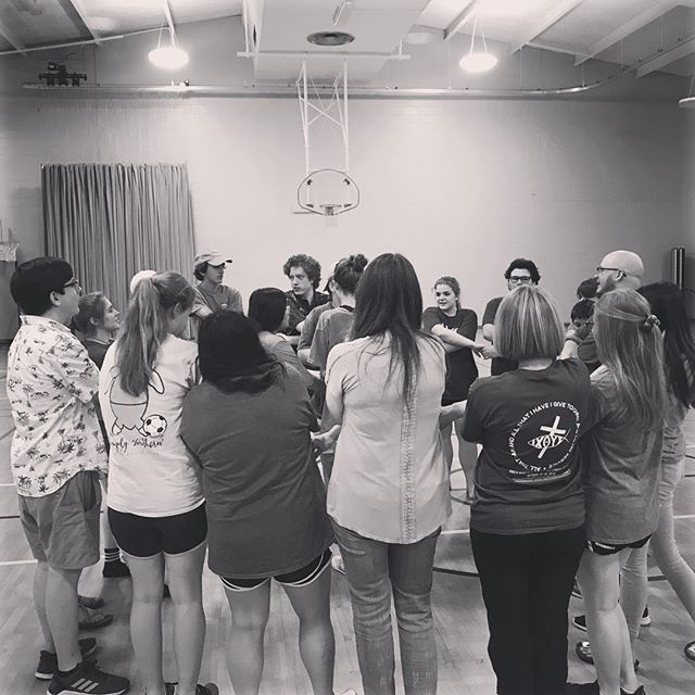 Tonight at youth we celebrated our seniors. I'm so proud of the young men and women that they've become, and I have no doubt that they are going to go out into the world and show the love of Christ to all they meet. This picture is from the end of the night when we surrounded the seniors and left them with the benediction we share at the end of every youth night. I'm going to contemplate these words a little longer than normal tonight, as I find it particularly poignant for this transition in their lives:  May the peace of the Lord Christ go with you,  Wherever he may send you.  May he guide you through the wilderness, Protect you through the Storm.  May he bring you home rejoicing, At the wonders he has show you.  May he bring you home rejoicing, Once again into our doors. ❤️
