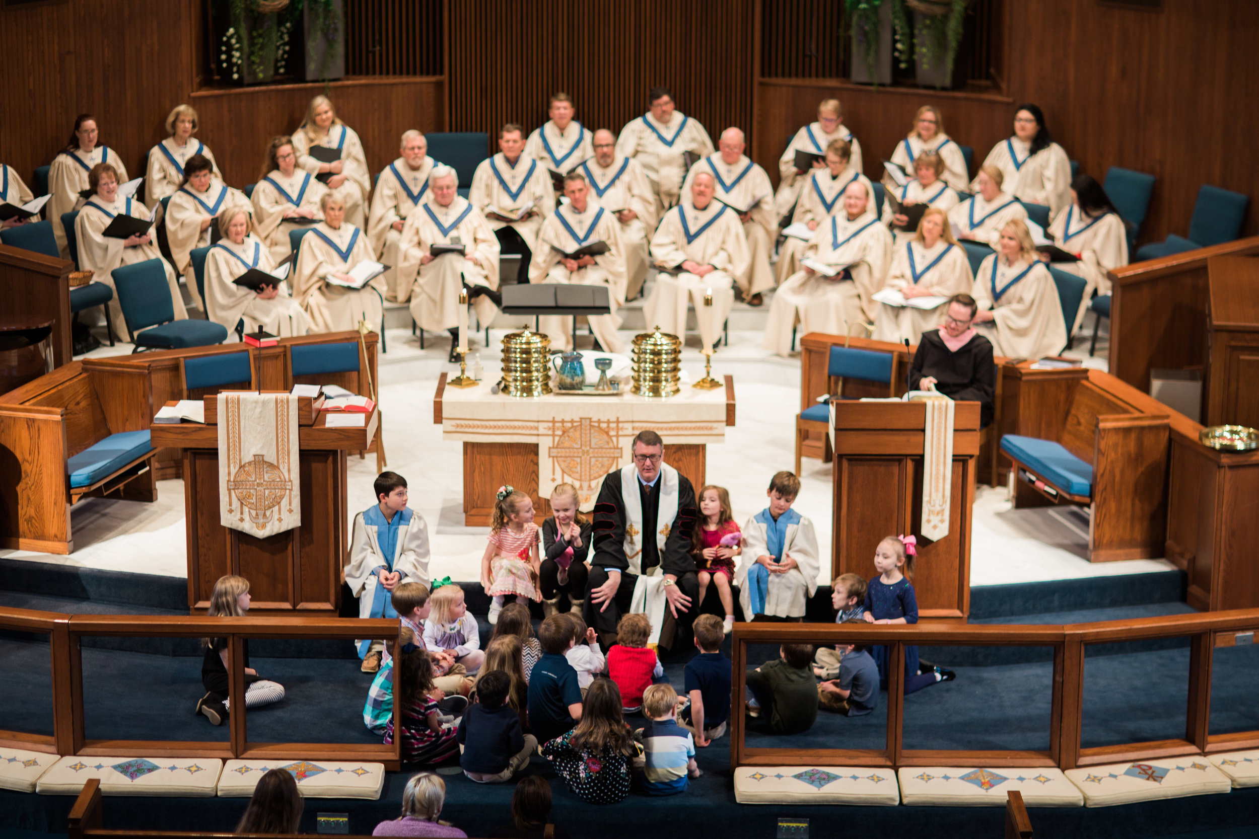 Our two SANCTUARY services include United Methodist liturgy, hymns, organ and piano accompaniment, prayer, and scripture, with communion on the first Sunday of the month.   The message is provided by Dr. Greg Davis, Senior Pastor.