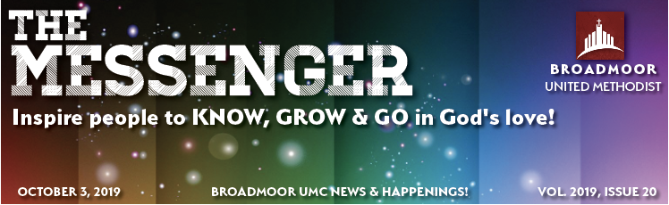 THE MESSENGER 10/3/19 - THE POWER OF IMPACTYOUTH MINISTRIESCHILDREN'S MINISTRIESBAPTISM CLASSUPCOMING EVENTSAND MUCH, MUCH MORE!