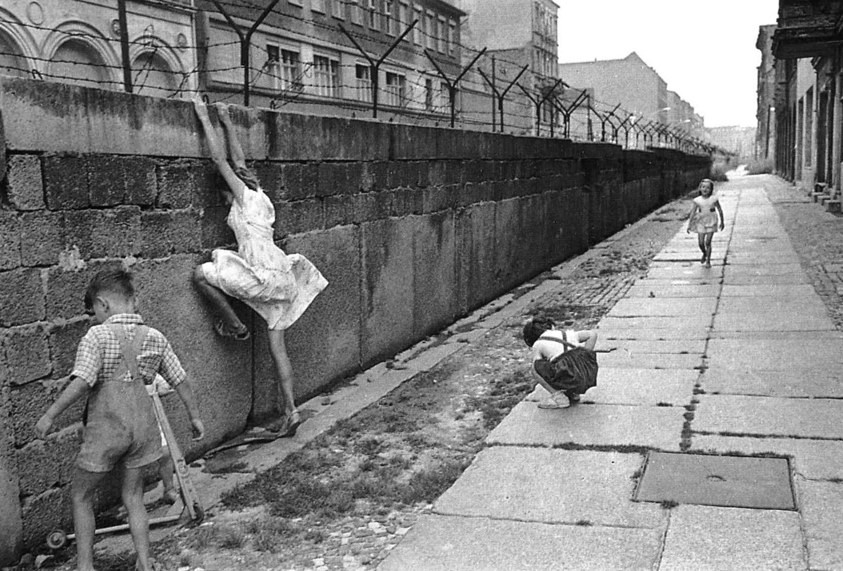 Christ would have instructed us to tear down those walls, not build them. Photo taken in West Berlin, 1962.