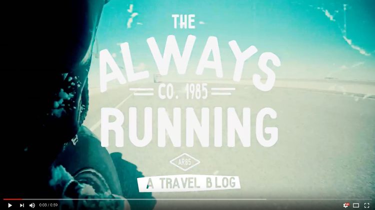 Check out the Always Running series on our youtube channel