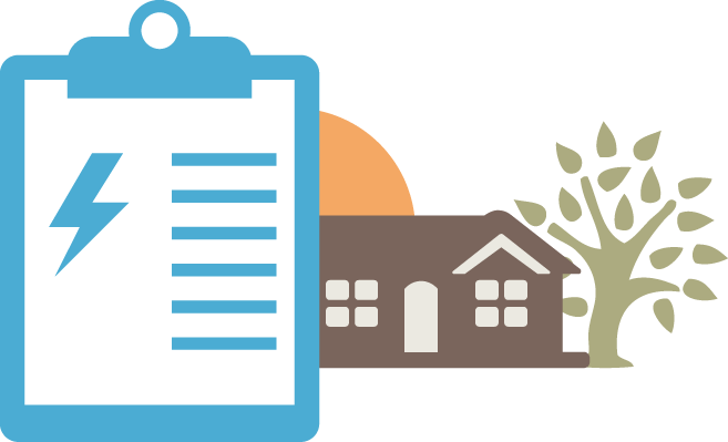 House with assessment clipboard