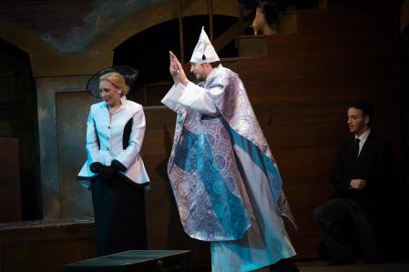"""The Pope"" in Evita at Broward Stage Door"