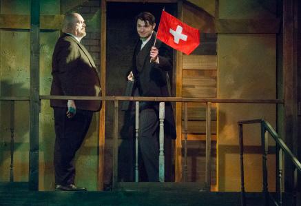 """""""Swiss Banker"""" in Evita at Broward Stage Door"""