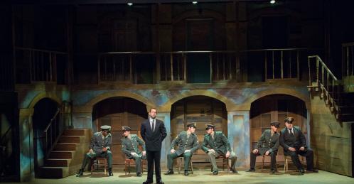 """""""Soldier"""" in Evita at Broward Stage Door"""