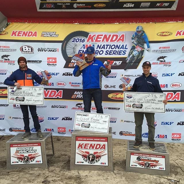 Round 1 in the books! @grbaylor1 wins! @russellbobbitt 2nd and @jgroemm 3rd! #nepg #Enduro